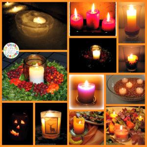 Herbstzeit im Kerzenschein
