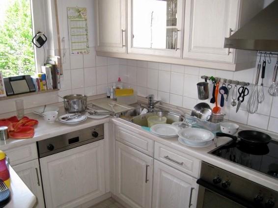 blitzblanke Küche