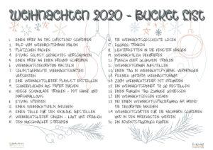 Weihnachts-Bucket-List